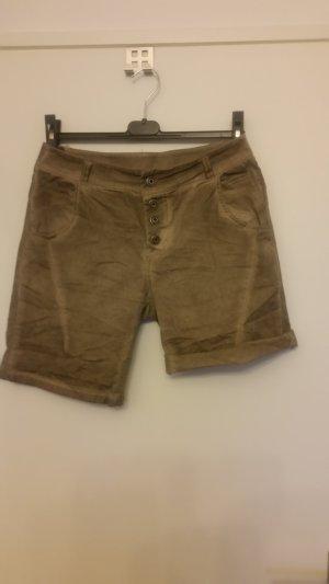 0039 Italy Denim Shorts camel mixture fibre