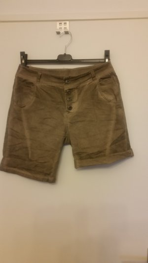 0039 Italy Short en jean chameau tissu mixte