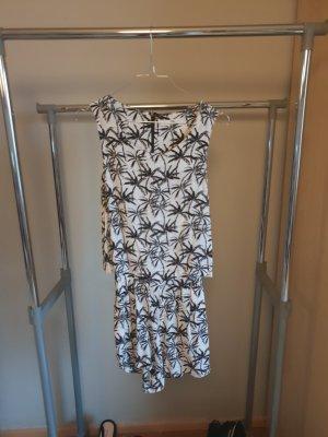 Mango Mini-jurk wit-zwart