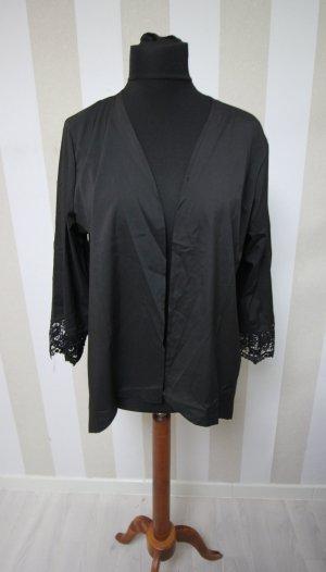 Blusa tipo kimono negro