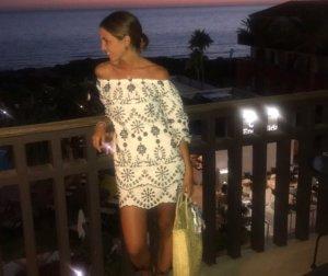 Zara Babydoll-jurk wit-zwart