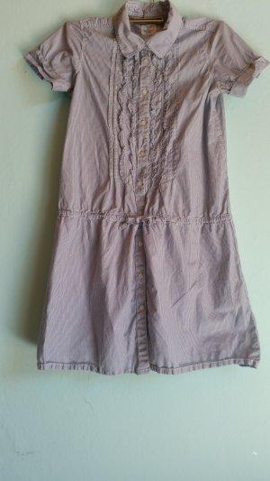 H&M L.O.G.G. Blouse Dress azure cotton