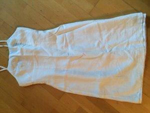 Sommer Kleid aus Leinen in Weiß Gr. 36 Neu