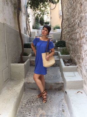 Sommer Kleid blau neuwertig