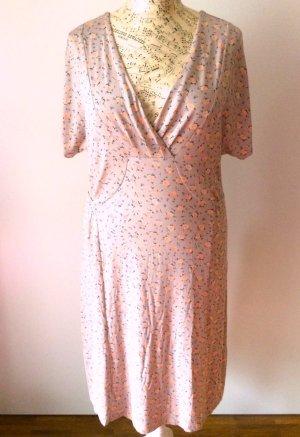 Sommer-Kleid CONTAINER mit Blümchen-Muster, apricot-beige Gr. XL (42-44) NEU!