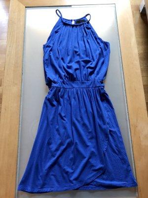 Sommer Kleid Cynthia Rowley 34 XS blau, raffinierter Schnitt, Top