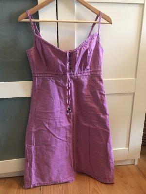 Sommer Kleid Esprit 34 lila Flieder Leinen