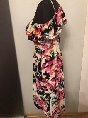 H&M Vestido de un hombro multicolor