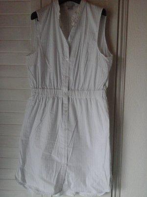 Sommer Kleid in längs Streifen