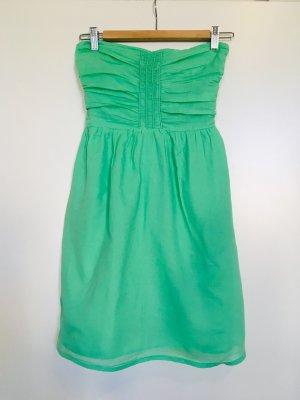 Zara Trafaluc Vestido bustier menta-verde claro