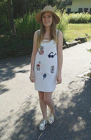 Sommer Kleid mit Patches