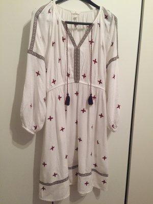 Sommer-Kleid mit Stickerei und Zierborte gr 40/42