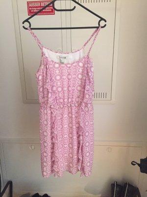Sommer Kleid Rosa/Weiss