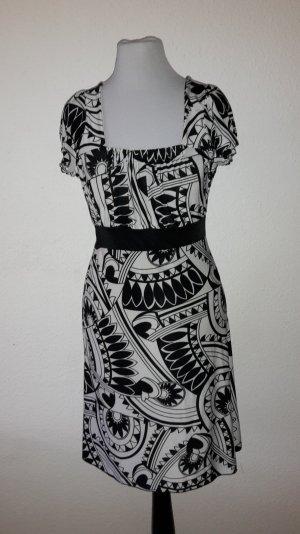 Sommer Kleid . schwarz. weiß .eleganz pur