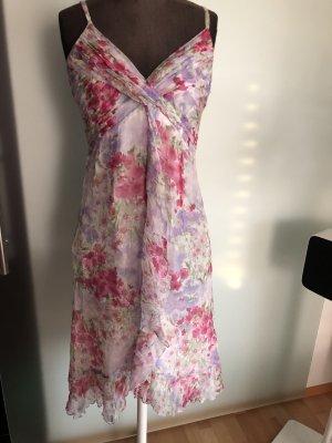 Sommer Kleid Seide Volant Rüschen Seide Gr 36 S Alba Moda