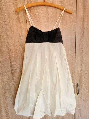 Robe ballon blanc-noir