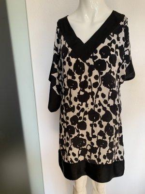 Zara Vestido playero negro-blanco