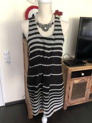 Vero Moda Vestido estilo camisa negro-blanco
