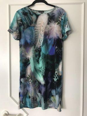 Sommer Kleid Warehouse Print Grün Blau gr. 34 / 36