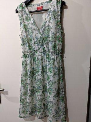 Sommer Kleid /weiß /Blumenmuster