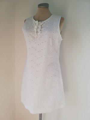 Kanten jurk wit Katoen