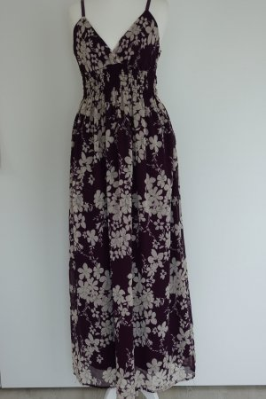 Dress brown violet-natural white polyester