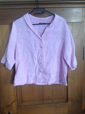 Backstage Blusa in lino rosa Lino