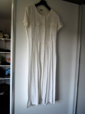 Public Shortsleeve Dress white linen