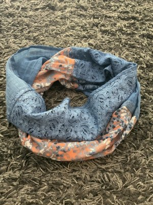 TCM Tube Scarf cornflower blue-orange