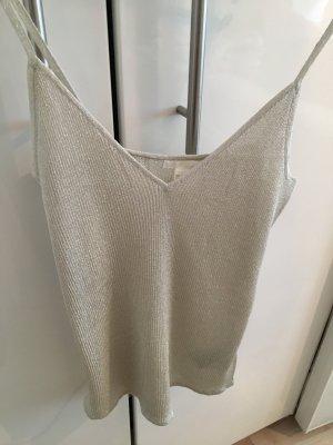 H&M Blusa brillante argento