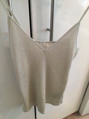 H&M Glanzende blouse zilver