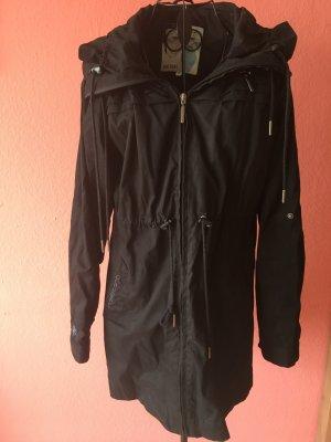 Naketano Manteau à capuche noir