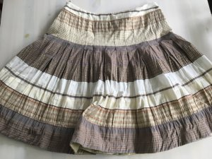 Bandolera Pleated Skirt multicolored