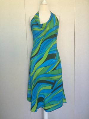 Robe dos-nu multicolore viscose