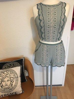 H&M High-Waist-Shorts light grey