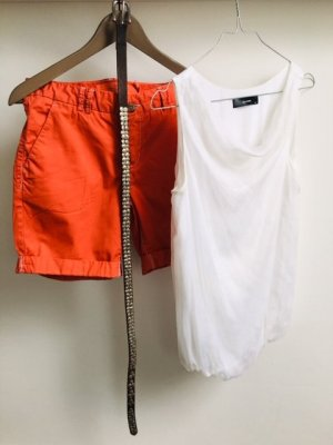 Woven Twin Set white-red