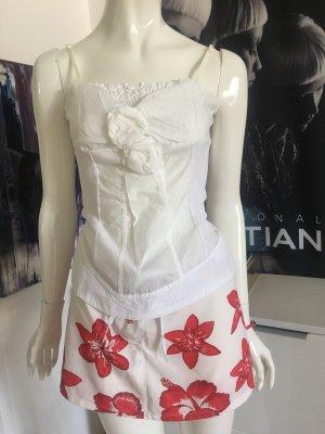 Sommer Outfit maui wowie Rock Mini und top weiß von SISTES wie neu