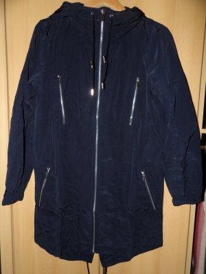 Sommer Parka Jacke mit Kapuze Mango NEU Gr. 34 XS marineblau