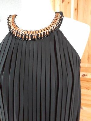 Vestido de cuello Halter negro Viscosa