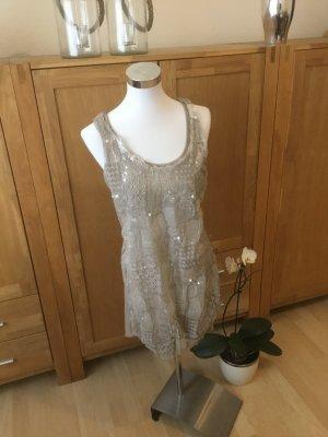 Superbugs Sequin Dress oatmeal viscose
