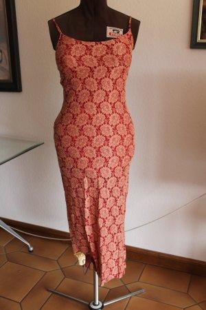 Nicowa Vestido de tubo rojo ladrillo-marrón arena Viscosa