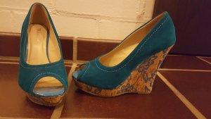 Sommer Peeptoe Schuhe mit Keilabsatz