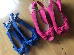 Graceland Sandalo con plateau rosa-blu