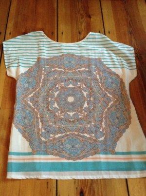 Promod T-shirt rayé multicolore