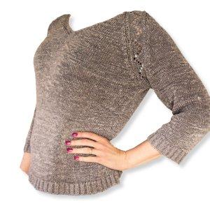 Sommer Pullover 3/4Arm Bändchengarn 36/38