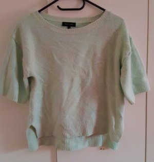 Sommer Pullover in Mint Gr. 36 Kurzarm #335