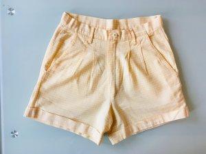 Vintage Pantalón corto de talle alto multicolor
