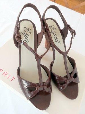 Esprit Sandalo con cinturino marrone Pelle