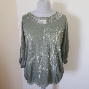 Camisa color plata-gris verdoso