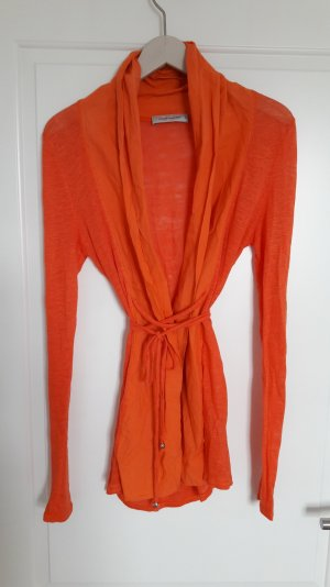Cardigan Hippie Boho Yoga Leinen Baumwolle orange